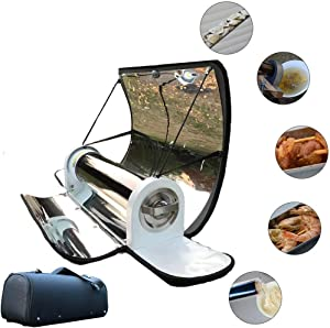 DSYYF Portable BBQ Grill Solar BBQ Cooker, Foldable Solar Grill Stove Oven Smoke-Free Delicious for Outdoor Camp Travel