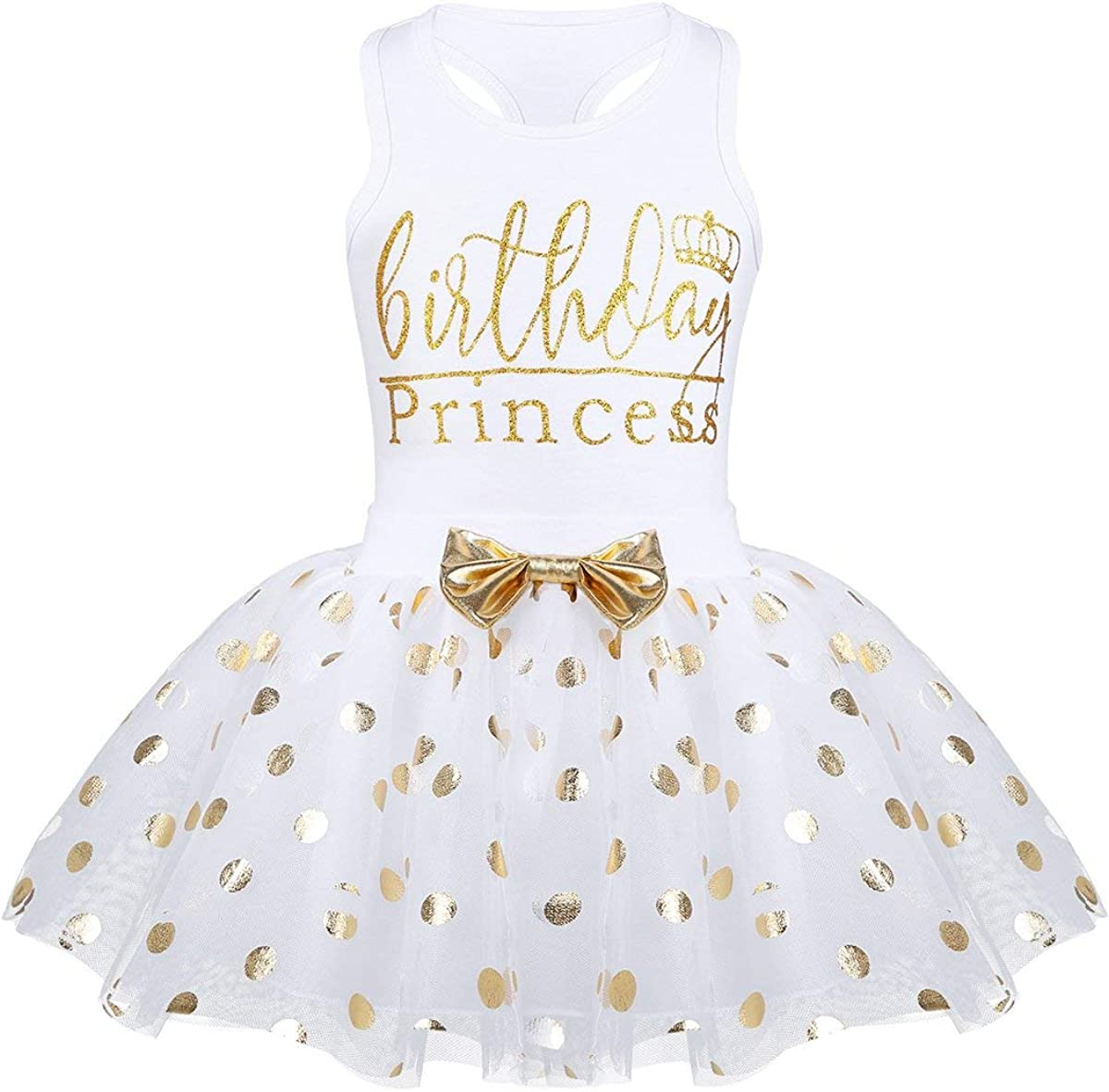 Toddler Kids Baby Girl's Birthday Outfits Princess Vest Sleeveless Shirt Mesh Tutu Skirt Set