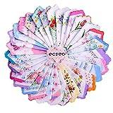 vintage handkerchiefs - ecseo Womens/Girls Vintage Floral Wedding Party Cotton Handkerchiefs (30 pieces)