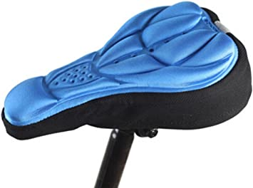 New Cycling Bike Bicycle 3D Sponge Cushion Soft Pad Saddle Seat Cover Blue