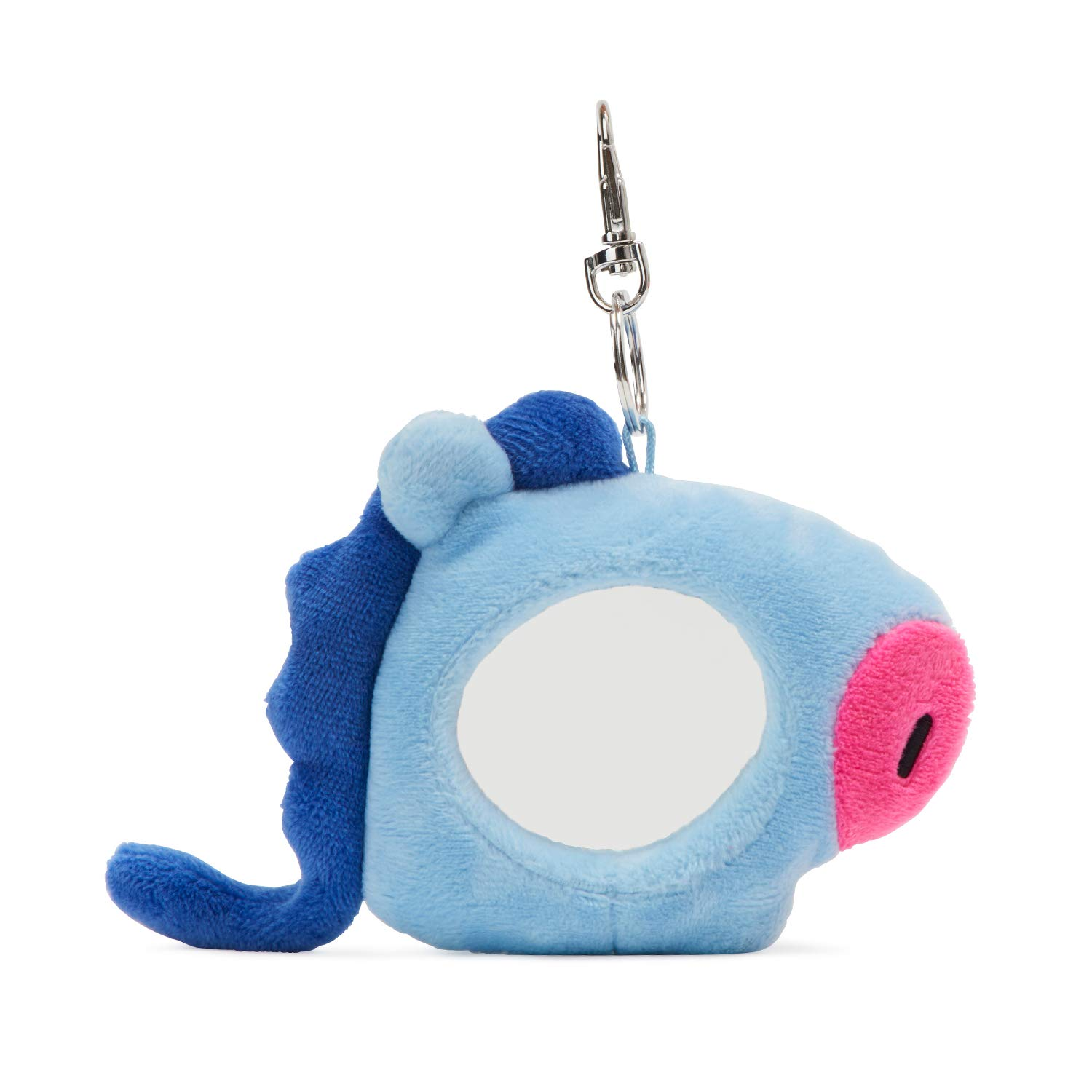 BT21 Official Merchandise by Line Friends - MANG Character Plush Doll Face Keychain Ring with Mirror Handbag Accessories