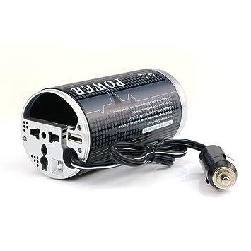 BESTEK 150W Inversor de coche 12V AC a 230V DC con Puerto USB 5V y Tomacorriente Universal para cargador su Telefono Movil/ iPhone y equipos electrónicos ...
