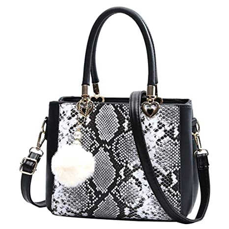 stable quality uk cheap sale cheap Amazon.com : Women's Handbags Retro Snake Printed Leather ...