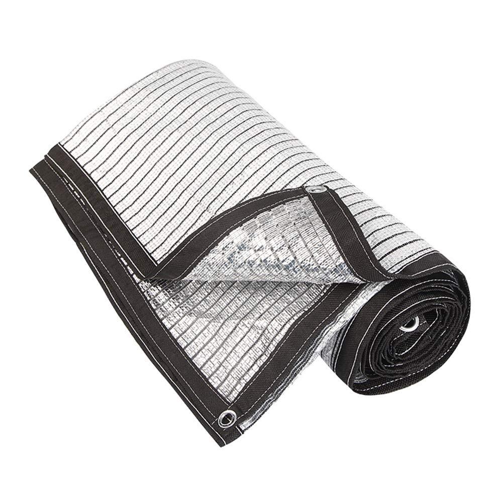 37M BÂche Imperméable Lourde écran solaire filet de maille de papier d'aluminium Prougeection UV Tissu coupe-vent hydratant Agricole Balcon Ombre Réseau d'isolation de voiture à effet de serre Réseau