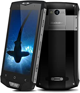 Blackview BV8000 Pro 4G Smartphone 5.0 inch Android 7.0 IP68 Waterproof Dual Sim FDD-LTE 6GB+64GB 8MP+16MP Outdoor Ragged MTK6757 2.3GHz Octa Core 4180mAh Fingerprint GPS Cell Phone (Shark Gray)