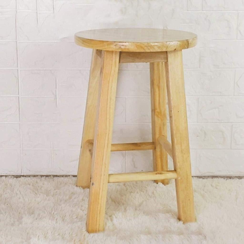 ソリッドウッドスツールハイスツールステップスツールホームハイスツール木製ベンチバーチェアバースツールハイ木製ベンチハイベンチウッド30×2×45 cm WJuian (Color : Wood Color) B07S3N1PFB Wood Color