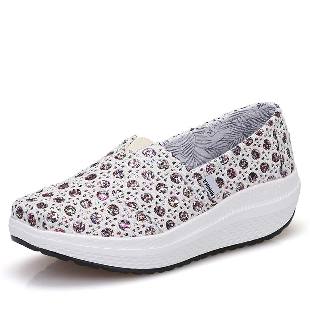FangYOU1314 : Toile Shake Shoes FangYOU1314 Femmes Wedges Sneakers Slip Sneakers (Couleur : Multicolore, Taille : 39 1/3 EU) Multicolore 9ead114 - piero.space