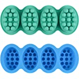 2 Pcs Silicone Massage Bar Soap Molds - SJ Silicone Molds for Soaps Making, Handmade Soap Molds, Nonstick & BPA Free…