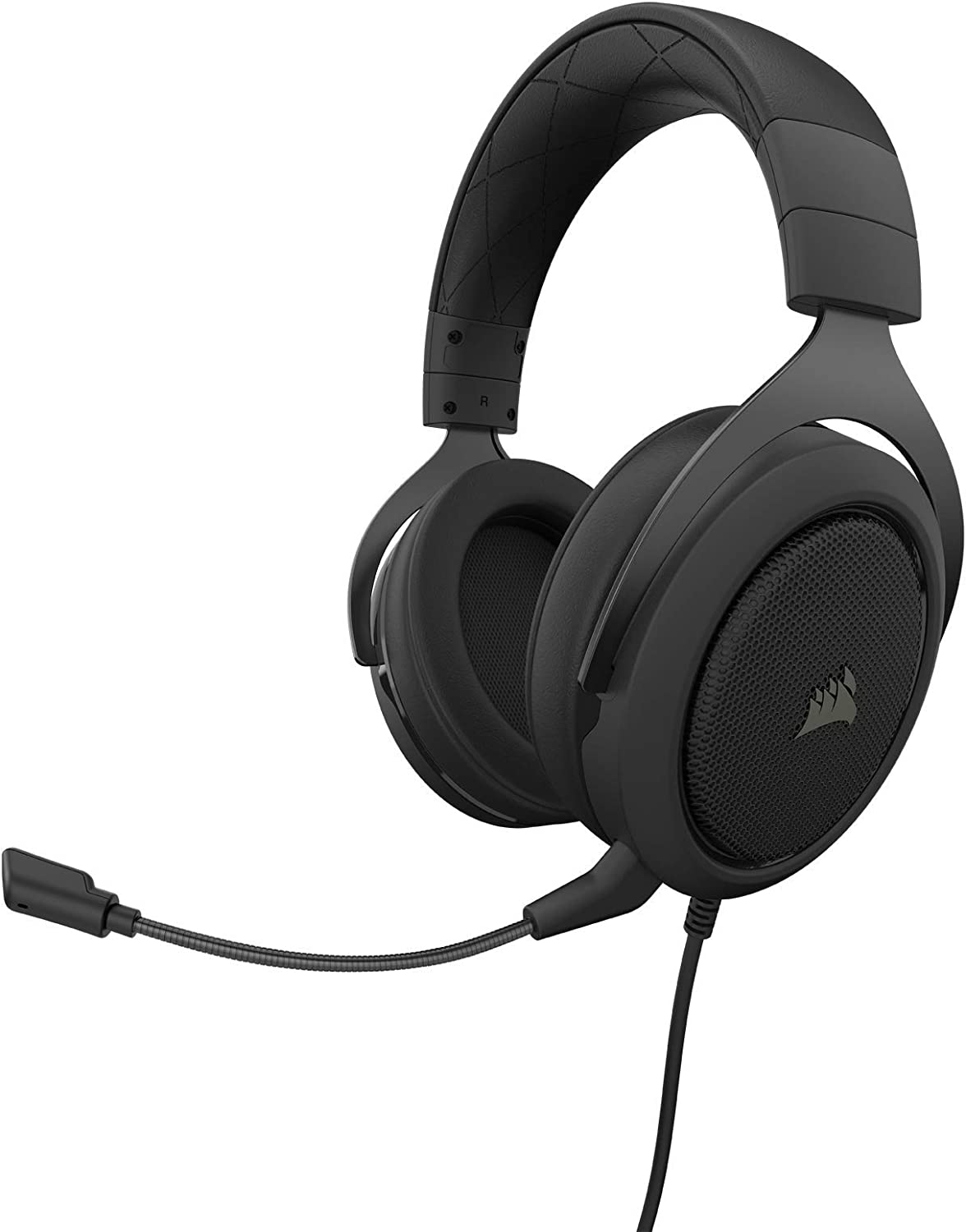 Corsair HS50 Pro - Stereo Gaming Headset - Discord Certified Headphones - Works with PC, Mac, Xbox One, PS4, Nintendo Switch, iOS and Android – Carbon