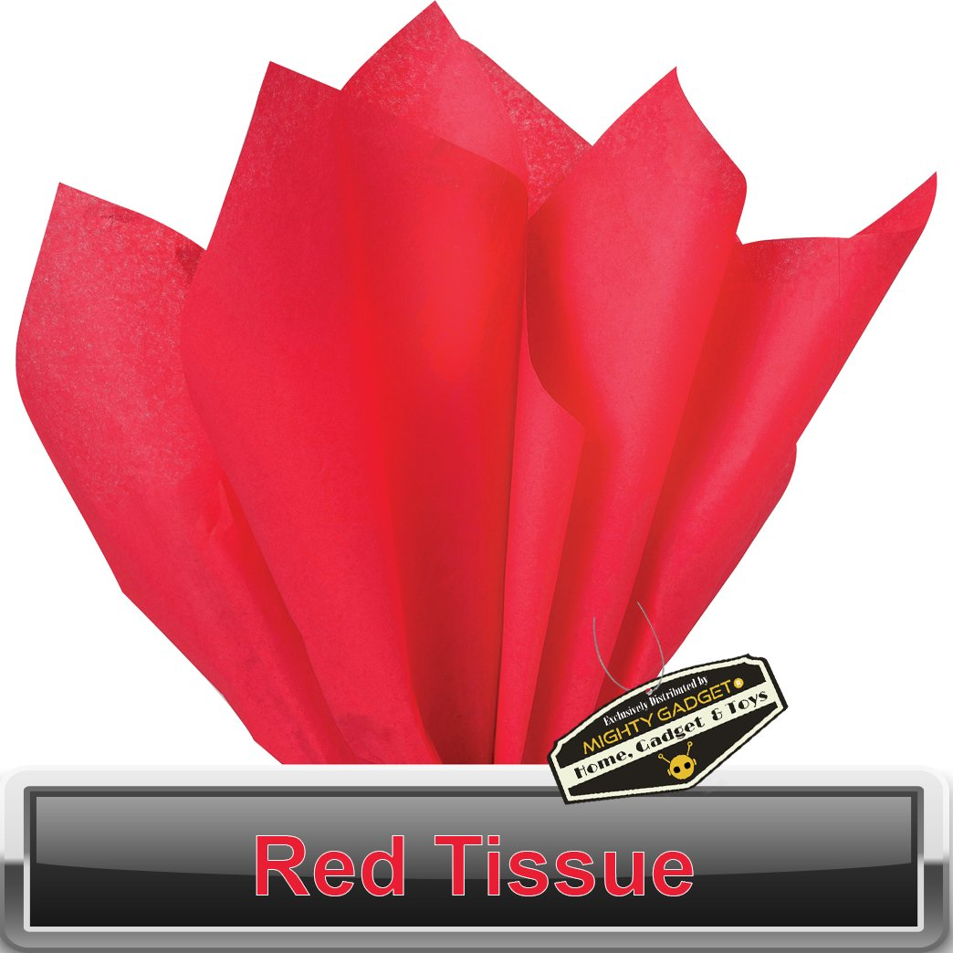 Amazon.com: 100 pc Mighty Gadget (R) Red Tissue Wrapping Paper - 15 ...