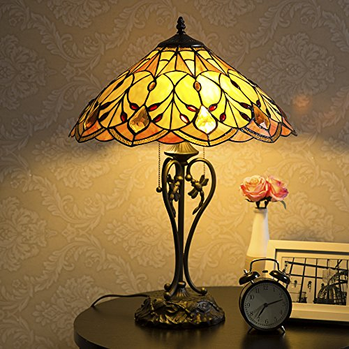 Lamp Light Victorian Table Lamp - Cloud Mountain Tiffany-Style Table Lamp Victorian 2-Light with 17.5