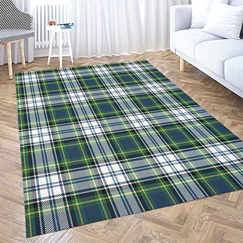 Gray Area Rug 5X7,Shorping Play Area Rug Winter Rug Christmas Area Rugs Golf Plaid Modern Home Carpet,Fun Area Rug,Floor Mats for Home Bedroom,Large Area Rugs