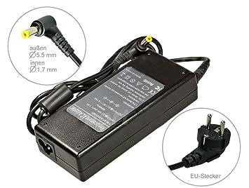 90W Alimentador Cargador Notebook AC Power compatible con Acer Aspire 5670 5710 5710G 5710Z 5710ZG 5715Z 5720 5720z 5720ZG 5724G, con eurocable