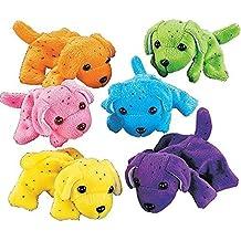 Plush Neon Dogs (1 dozen) - Bulk