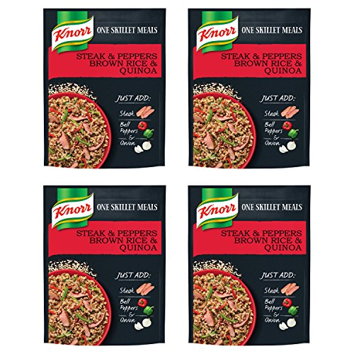 (Knorr One Skillet Meals Meal Starter, Steak and Peppers Brown Rice & Quinoa 5.5 oz, 4 count)