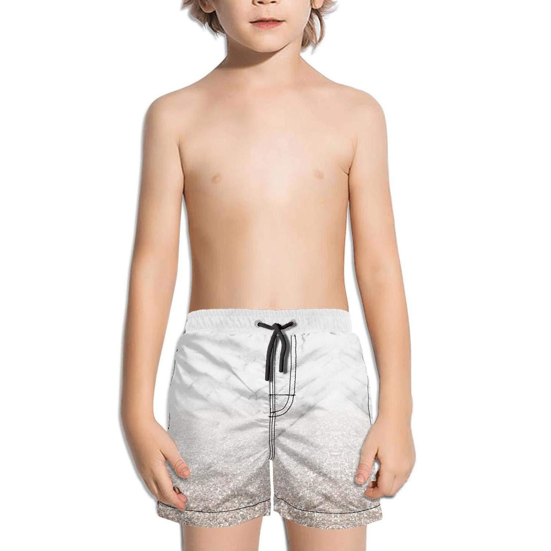 Ouxioaz Boys Swim Trunk White Marble Ink Beach Board Shorts