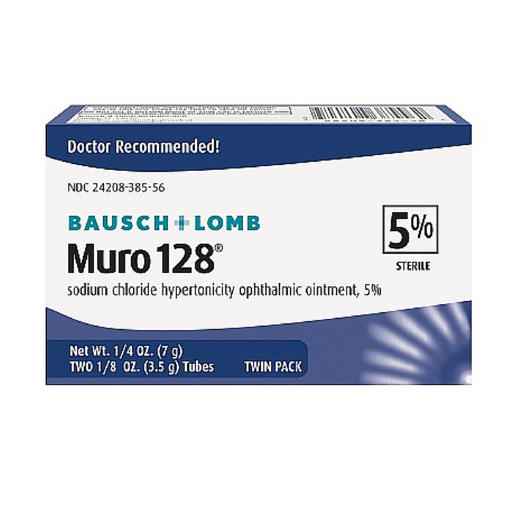 Muro 128 Sterile Ophthalmic5 Percent Ointment,twin Pack - 0.25 Oz Sku 3701117
