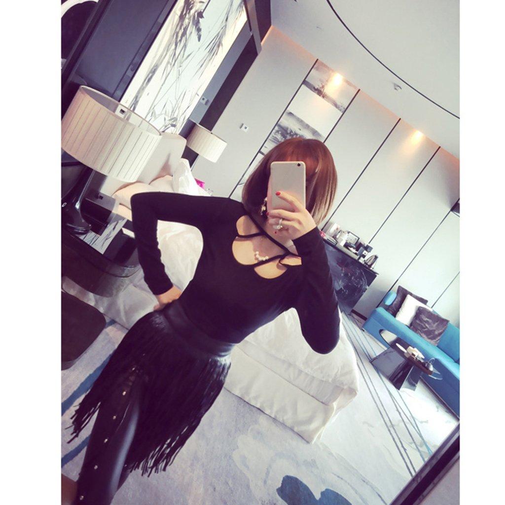 MagiDeal 2pcs Cuir PU Ceinture Glands à Franges Ornée Bikini Jupe de Danse  Dame-Noir  Amazon.fr  Vêtements et accessoires 267db543f0d