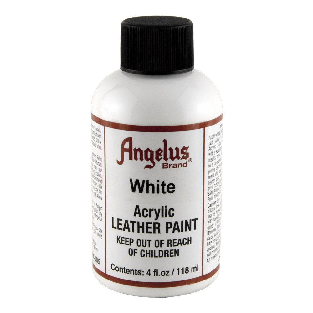 angelus leather paint 4 oz white chickadee solutions