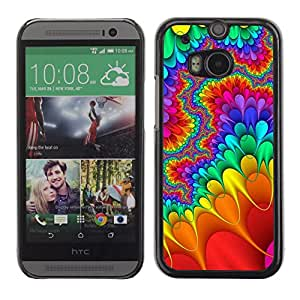 Paccase / SLIM PC / Aliminium Casa Carcasa Funda Case Cover para - Trippy Lsd Hippies Freedom Psychedelic - HTC One M8