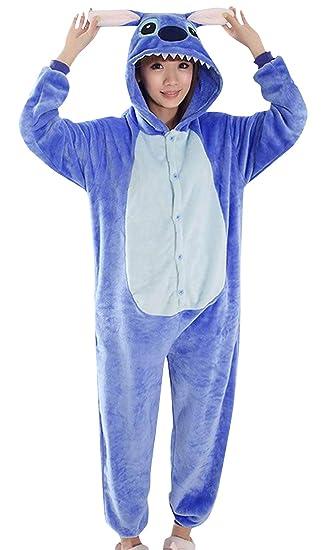 EOZY Pijama para Mujer Hombre Adulto Diseño De Animal Azul Tamaño ...