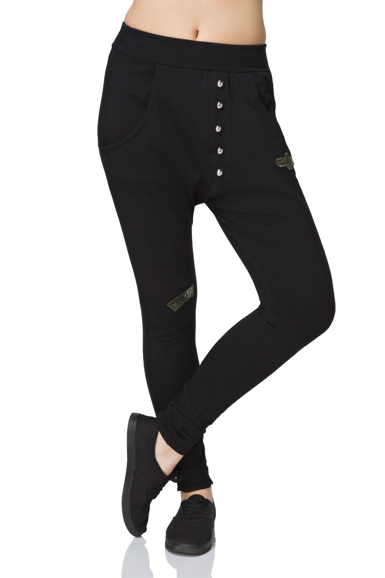 UK Casual Tapered Pants With Pockets Skinny Trousers Bottoms Sizes 8-14 FT2146