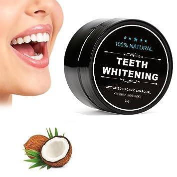 Blanqueamiento polvo de carbón todos los Naturales dientes blanqueadores con Coco Madera Carbón Activado Carbón vegetal