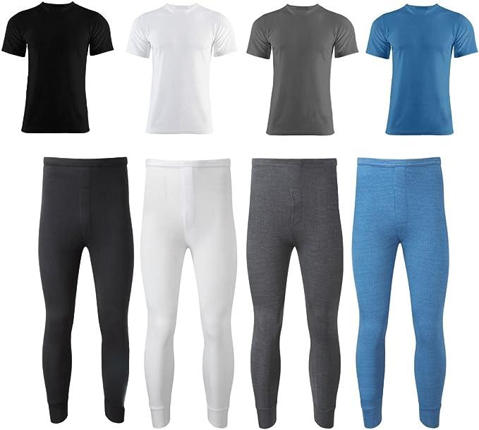 Gaffer Mens Thermal 2 Pack Full Set Short Sleeve Charcoal 2X Large