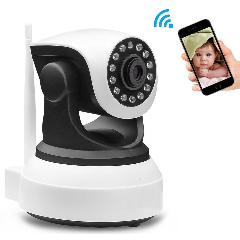 Home Security Camera - Wireless IP Surveillance HD Night Vision Wide Angle for Baby Pet Monitoring by Leocam
