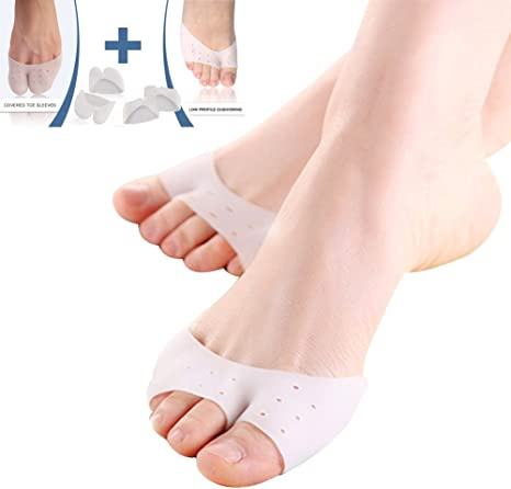 Womens Silicone Gel Toe Caps Soft Ballet Pointe Dance Athlete Shoe Pads
