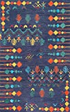 """nuLOOM Jannet Tribal Wool Runner Rug, 2' 6"""" x"""