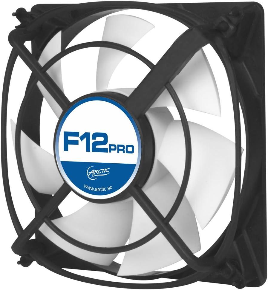 ARCTIC F12 Pro 120 mm, Ventilateur Haute Performance, Ventilateur Boitier, Refroidisseur Silencieux pour Unité Centrale, Roulement à Fluide