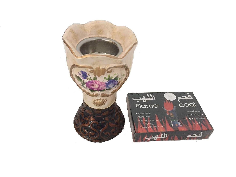 Alhambra Decorative Arabian Bakhoor Incense Burner/Mabkhara with free coal