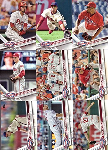 2017 Topps Series 1 Philadelphia Phillies Baseball Card Team Set - 9 Card Set - Includes Freddy Galvis, Cesar Hernandez, Jeremy Hellickson, Aaron Nola, and more!