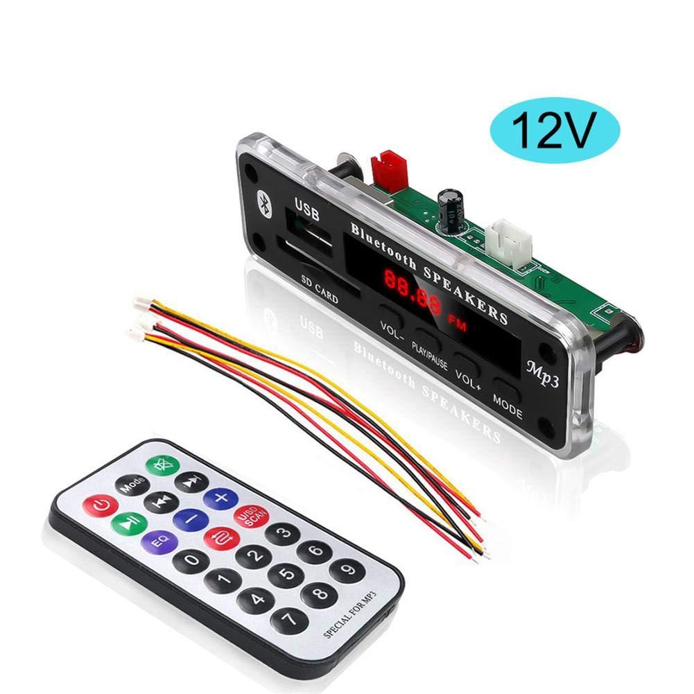 Compatible con MMC//SD//MMA//funci/ón de Memoria de Apagado//Control Remoto Pretty Good Ploufer M/ódulo de Placa de decodificaci/ón de MP3 Bluetooth