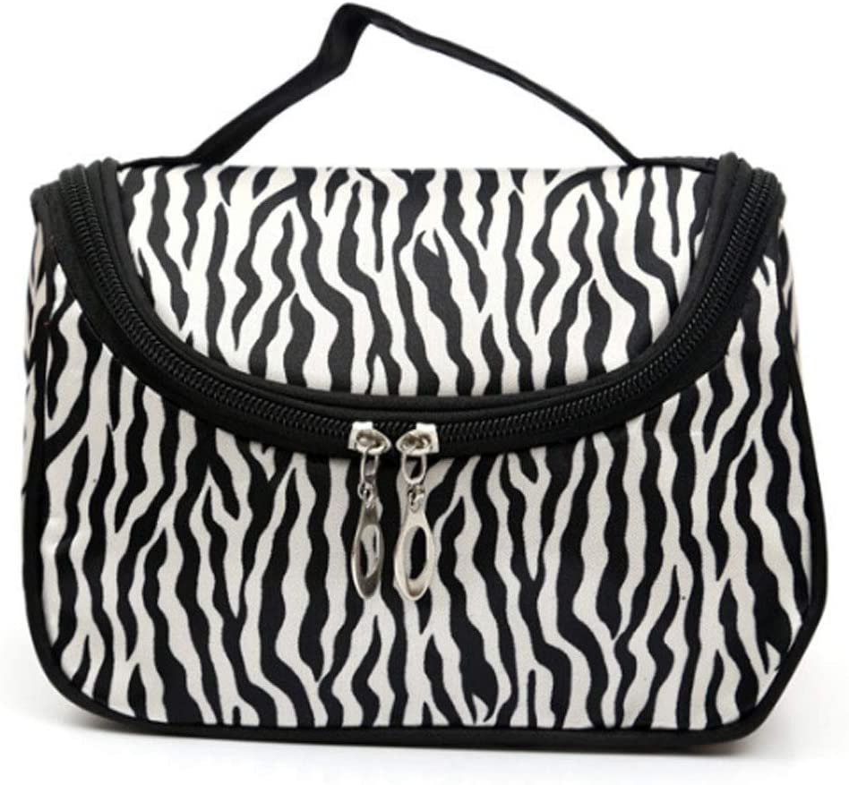 HappyDaily Beautiful and Multifunctional Waterproof Makeup case or Cosmatic Bag or Travel Toiletry Pouch or Storage Bag for Women Girls (Zebra)