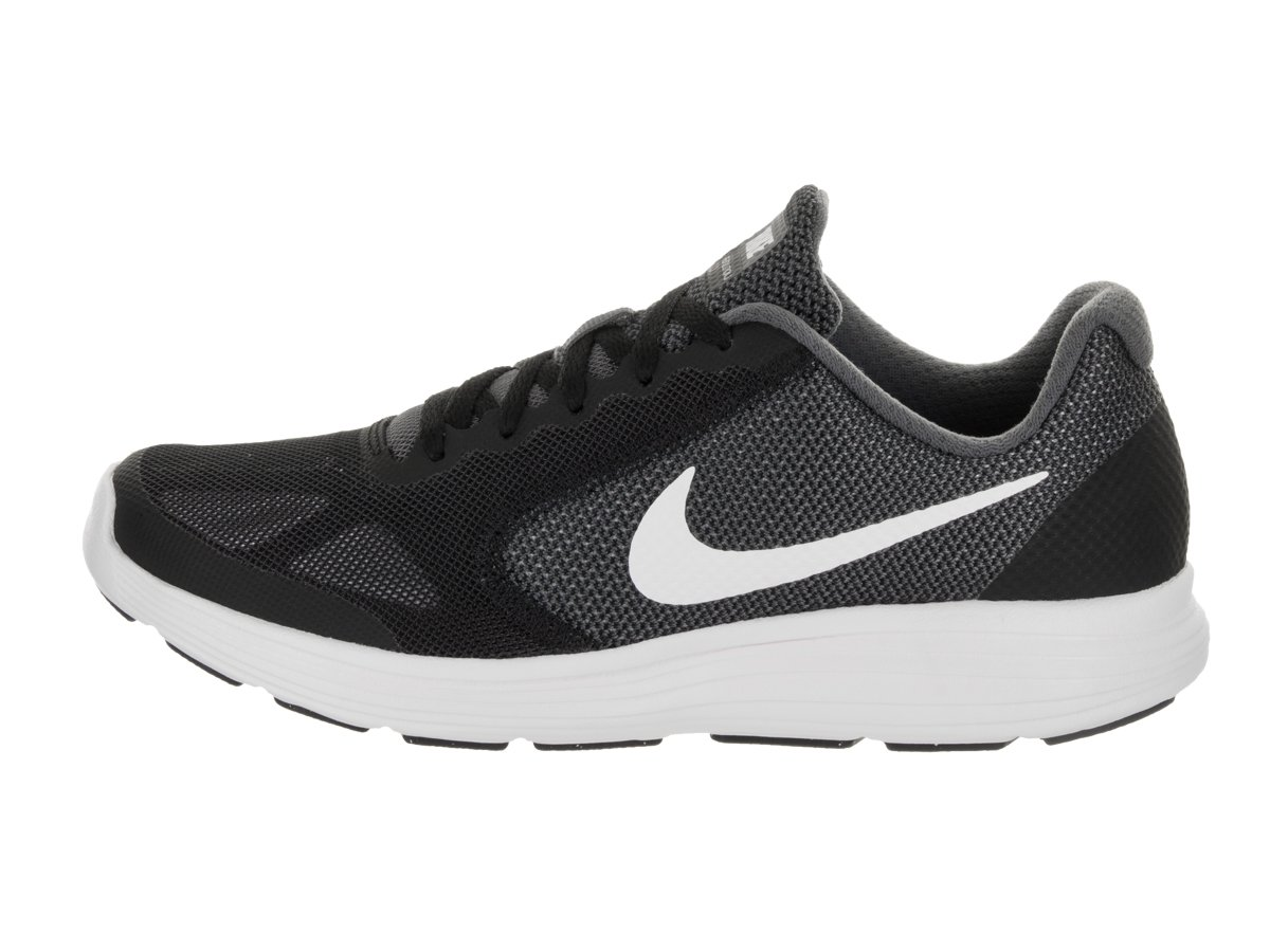 Nike Kids Revolution 3 (GS) Dark Grey/White/Black Running Shoe 5.5 Kids US by Nike (Image #2)