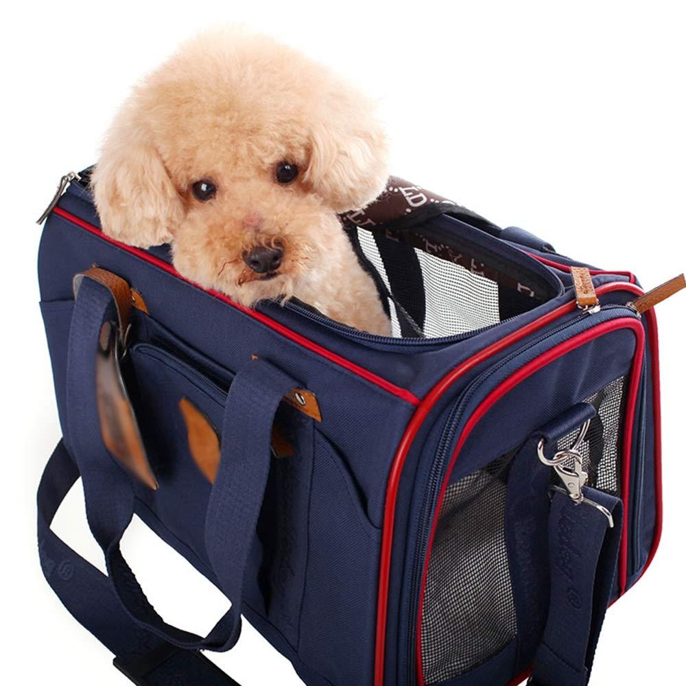 GYZ Borsa da viaggio per animali domestici, trasporto da viaggio viaggio viaggio per animali domestici, borsa per gatti con borsa per cani, borsa moda traspirante, borsa messenger, dispositivo per animali domestici - 461993