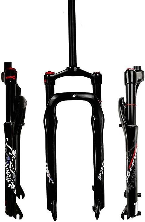 MZP Horquilla Delantera para Bicicleta Nieve 26 Pulgadas Horquilla Aire 1-1/8