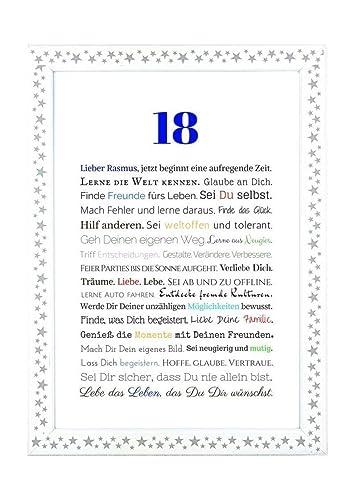 18 Geburtstag Geschenkidee Zur Volljahrigkeit Personalisiertes
