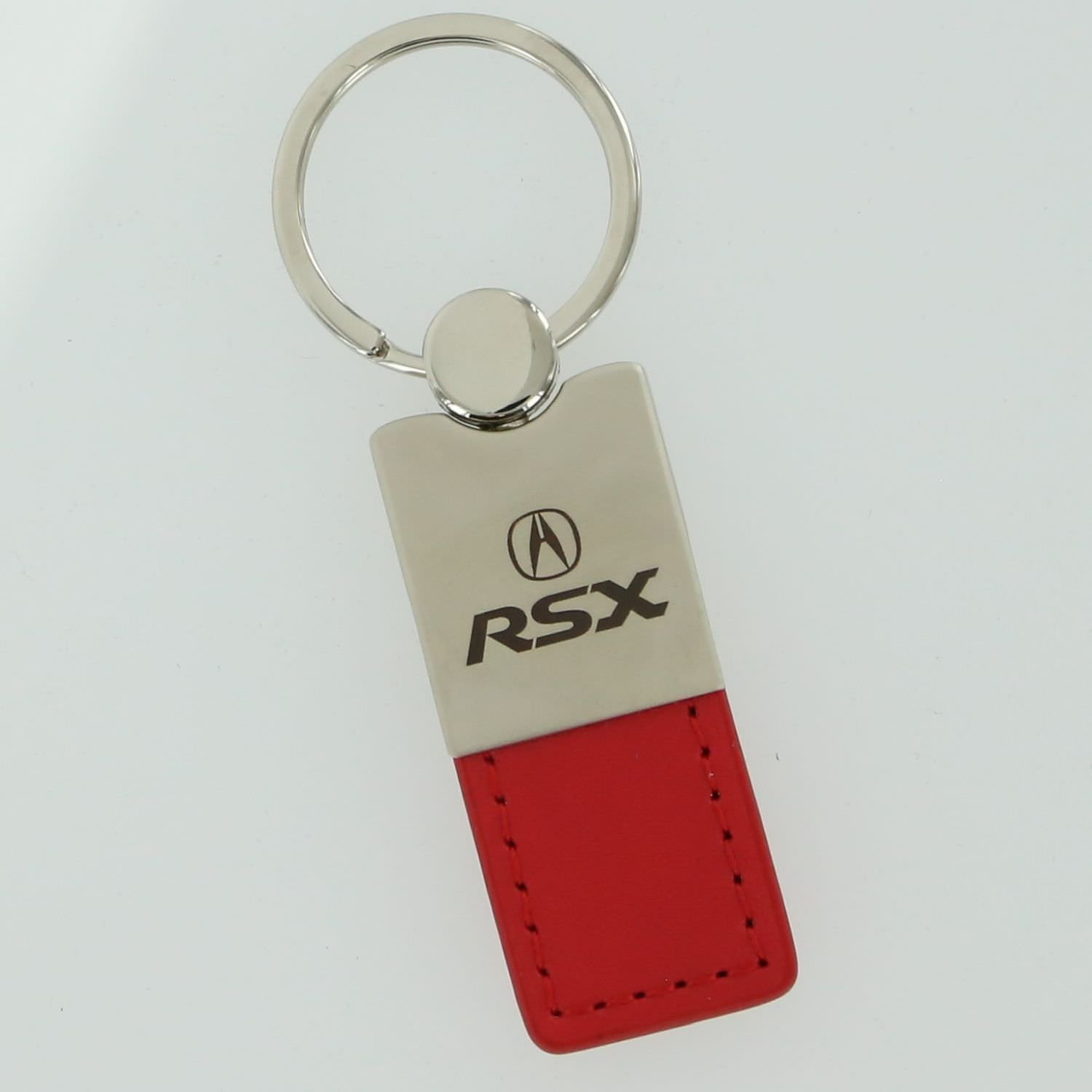 Acura RSX Red Leather Key Ring