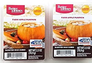 Better Homes & Gardens Farm Apple Pumpkin Scented Wax Cubes – Two (2) Packs (2.5 oz Each)