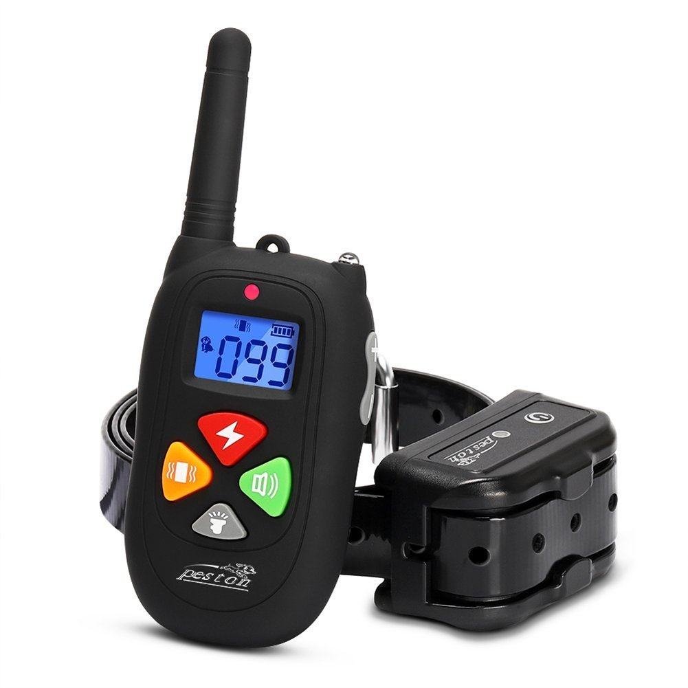 PESTON Dog Training Collar Upgraded 2000ft Remote Rechargeable Waterproof Electric Shock Collar with Beep Vibration Shock for Small Medium Large Dogs