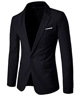 6353376fbe6 Mens Exquisite Casual Blazer Single Breasted Suit Vivid 1 Blazer Tuxedo Dress  Suit Slim Fit Jackets  Amazon.co.uk  Clothing