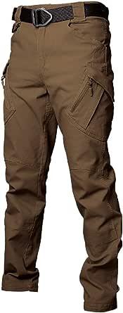 Les umes Pantalones de trabajo para hombre al aire libre Ripstop, tácticos militares, pantalones de combate, camping, senderismo