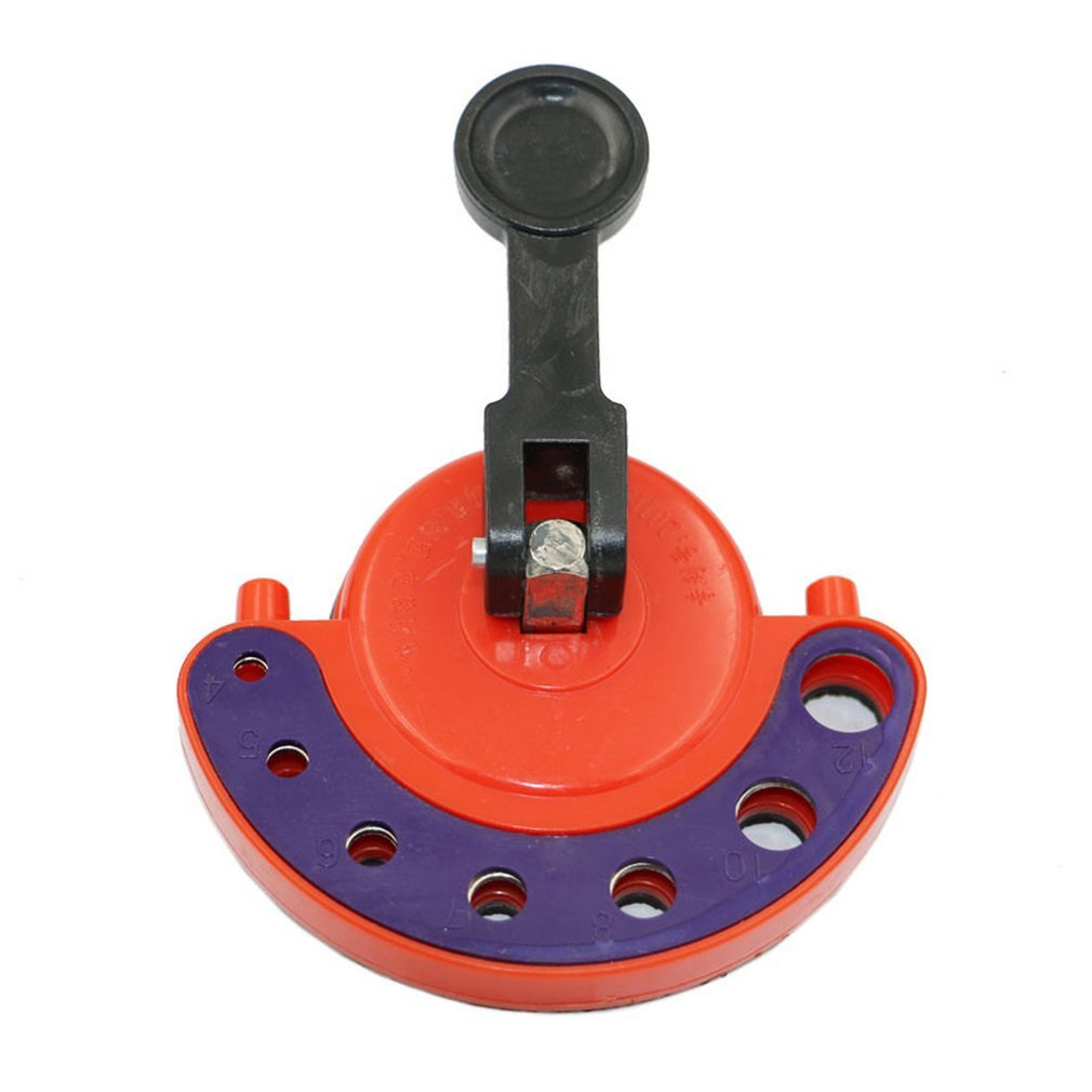 Adjustable 4-12mm Glass Tile Hole Saw Drill Guide Locator Openings Sucker New