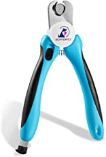 Dog Nail Clippers - Professional Cat Dog Pet Nail Grooming Trimmer Clipper - With Safety Guard & Nail Grind File & Sharp Stainless Blade Best Claw Grooming Tool for Fast Cutting Dogs Cats Pets Paws