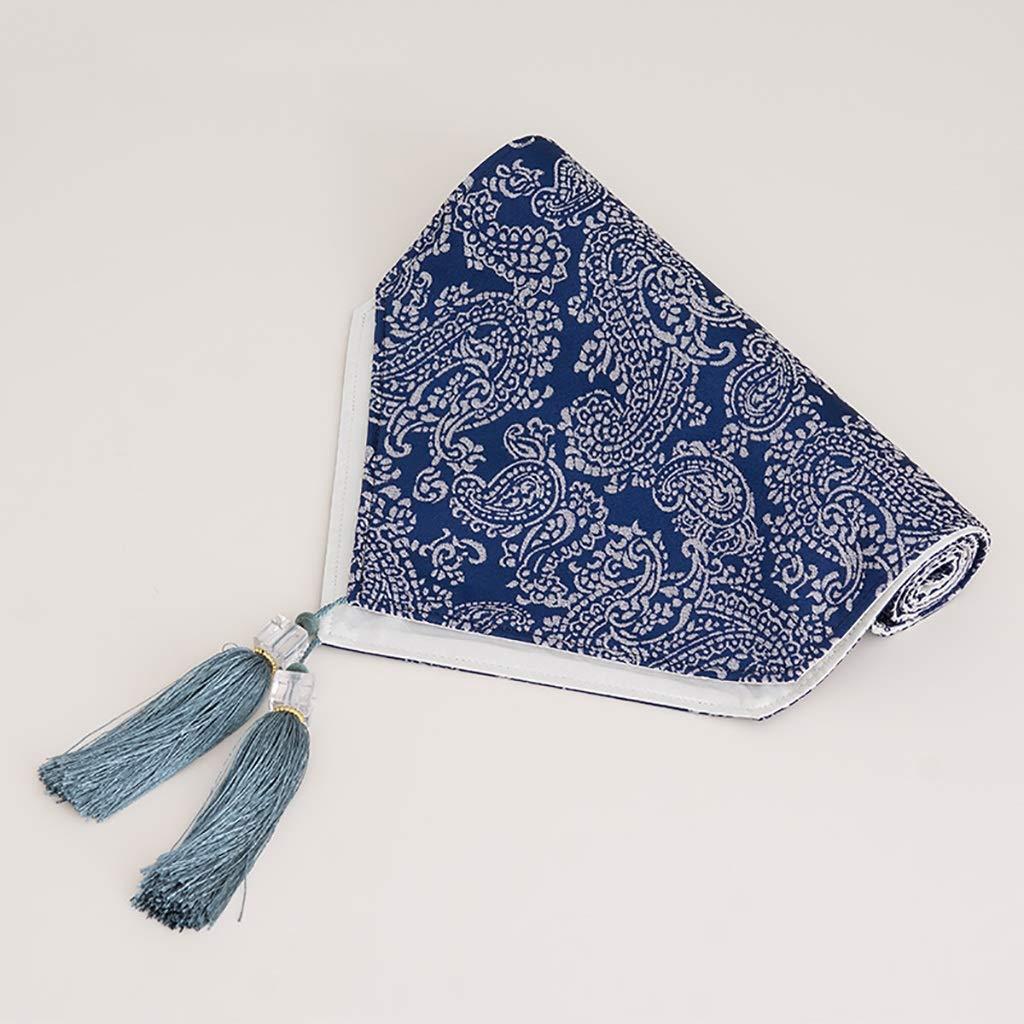 簡単な無地のストリップの印刷テーブルのランナー、TVのキャビネットのコーヒーテーブルの靴のキャビネットの装飾[色:青] (色 : 青, サイズ さいず : 35x228cm) 35x228cm 青 B07Q8GH3CF
