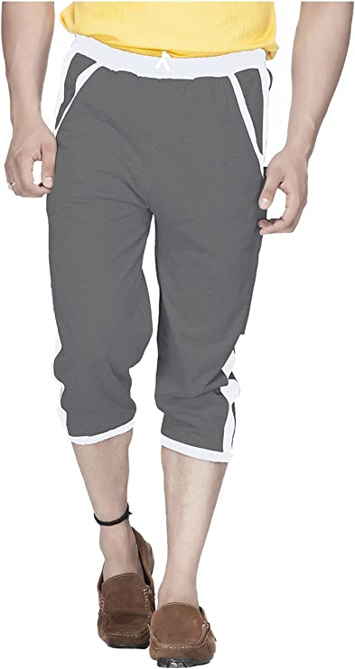 Demokrazy Men's Regular Fit Capri at amazon