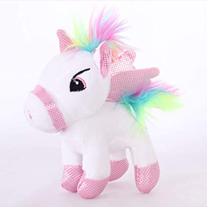 JEWH [14cm Soft Stuffed Animal Baby Dolls Lovely Cartoon Unicorn Plush Toys for Kids Toys
